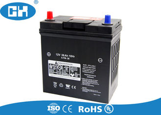Black Dry Cell Car Battery , Rechargeable Sealed High Performance Car Battery