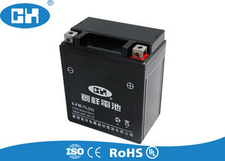 China Maintenance Free Sealed Motorcycle Batteries Black Fast Starting Reaction supplier