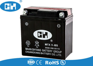 China Black 12 Volts Maintenance Free Motorcycle Battery With Acid Pack Acid Resistance supplier