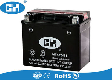 China High Output Motorcycle Battery Semi Free Maintenance  , 12v 12Ah Dry Cell Motorcycle Battery supplier