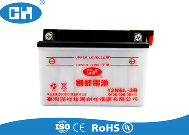 Dry Charged 12v 6Ah Lead Acid Motorcycle Battery 88 * 85 * 96mm Lightweight