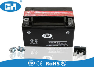 Rechargeable 125cc Motorcycle Battery 12v 7Ah Maintenance Free With Acid Pack