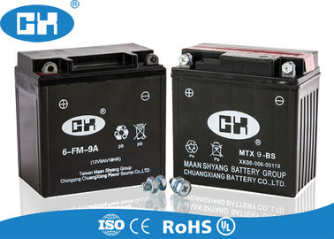 High Performance 250cc Motorcycle Battery 12v 9Ah 138 * 72 * 134mm Acid Resistance