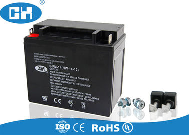 Custom 12v14h 250cc Motorcycle Battery High Capacity Low Self - Discharge