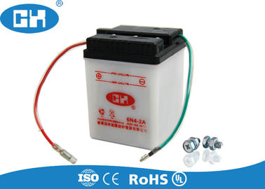 Conventional Dry Charged 6v Lead Acid Battery ABS Container Acid Resistance